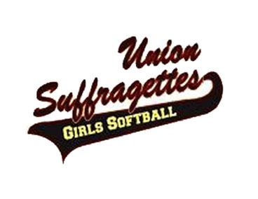 Union Girl Suffragettes Softball League Spotlight Graphic